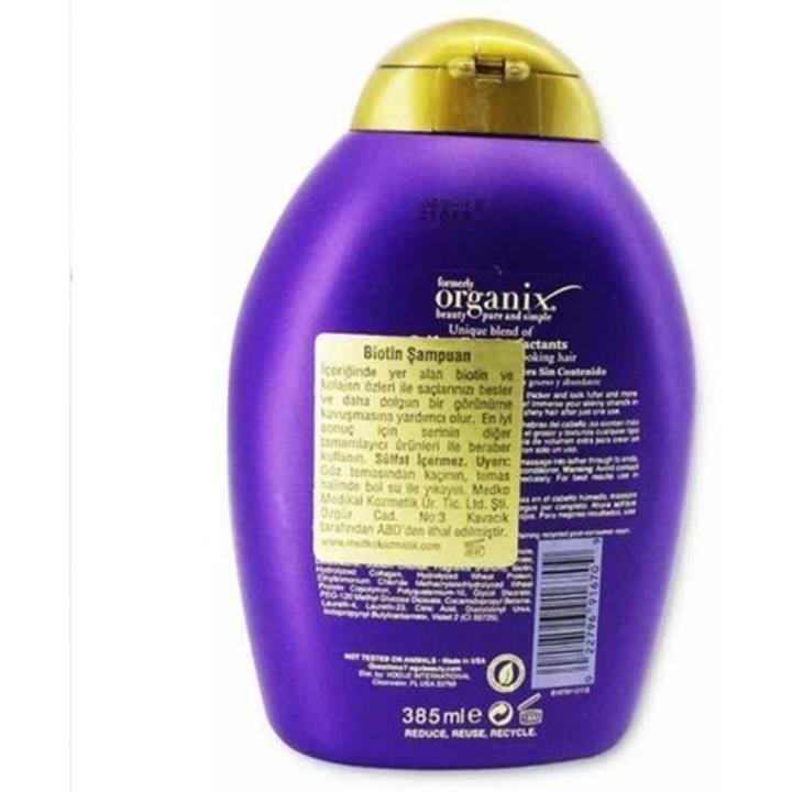 Organix Biotin Collagen Shampoo 385 Ml Sampuan Yorum Ve